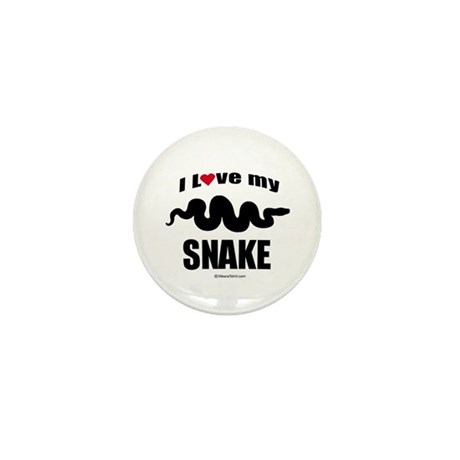 I Love my Snake ~ Mini Button (10 pack)