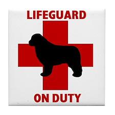 Newfoundland Dog Water Rescue Tile Coaster