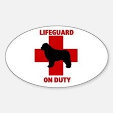 Newfoundland Dog Water Rescue Oval Decal