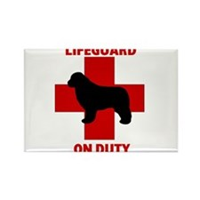 Newfoundland Dog Water Rescue Rectangle Magnet