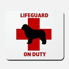 Newfoundland Dog Water Rescue Mousepad