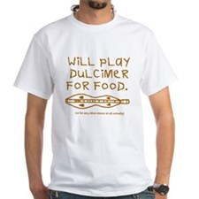will play dulcimer for food brown T-Shirt