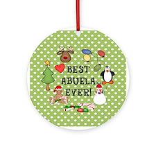 Best Abuela Ever Christmas Ornament (Round)