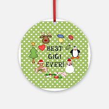 Best Gigi Ever Christmas Ornament (Round)