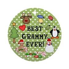 Best Grammy Ever Christmas Ornament (Round)