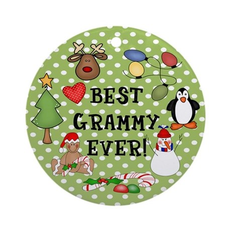Best Grammy Ever Christmas Ornament (Round)