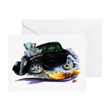 1933-36 Willys Black Car Greeting Card