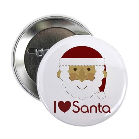 "I Heart Santa 2.25"" Button"