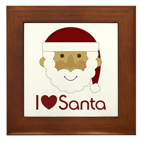 I Heart Santa Framed Tile