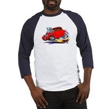 1933-36 Willys Red Car Baseball Jersey