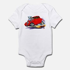 1933-36 Willys Red Car Infant Bodysuit