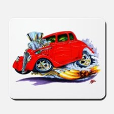 1933-36 Willys Red Car Mousepad