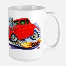 1933-36 Willys Red Car Large Mug