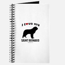 I Love my Saint Bernard ~ Journal