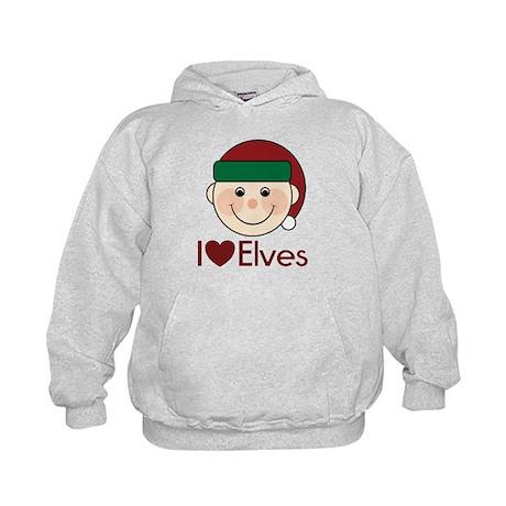 I Heart Elves Kids Hoodie