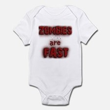 Zombies Are Fast Infant Bodysuit