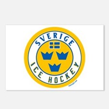 SE Sweden/Sverige Hockey Postcards (Package of 8)