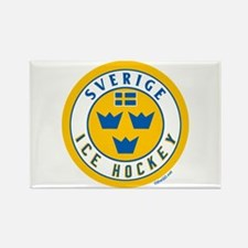 SE Sweden/Sverige Hockey Rectangle Magnet
