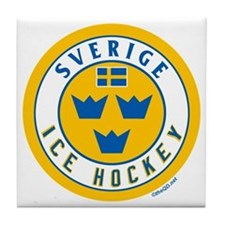 SE Sweden/Sverige Hockey Tile Coaster