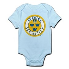 SE Sweden/Sverige Hockey Infant Bodysuit