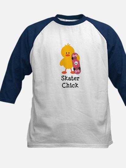 Skater Chick Kids Baseball Jersey