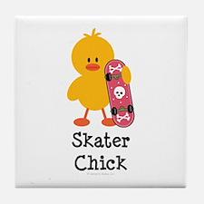 Skater Chick Tile Coaster