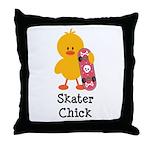 Skater Chick Throw Pillow