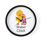Skater Chick Wall Clock