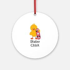 Skater Chick Ornament (Round)