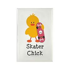 Skater Chick Rectangle Magnet