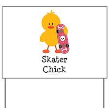 Skater Chick Yard Sign