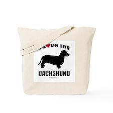 I Love my Dachsund ~  Tote Bag