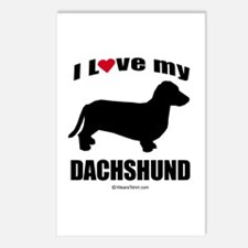 I Love my Dachsund ~  Postcards (Package of 8)