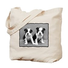 Boston Terrier Puppies Tote Bag