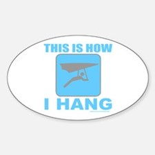 HANG GLIDER/GLIDING Oval Decal