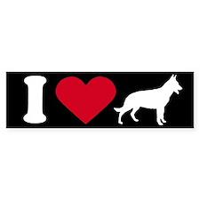 I Love my German Shepherd ~ Bumper Bumper Sticker