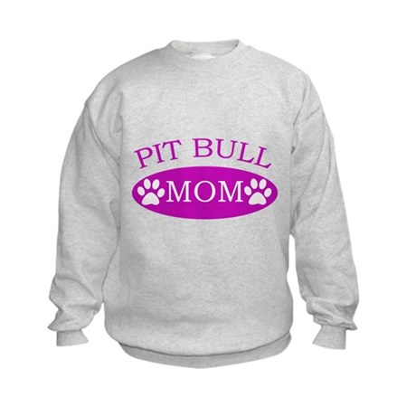 Pit bull Mom Kids Sweatshirt