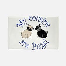 Pug Cousins Rectangle Magnet (10 pack)