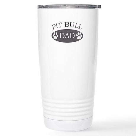 Pit Bull Dad Stainless Steel Travel Mug