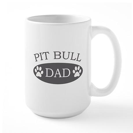 Pit Bull Dad Large Mug
