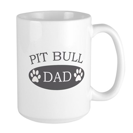 Pit Bull Dad Large Mug