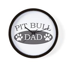Pit Bull Dad Wall Clock