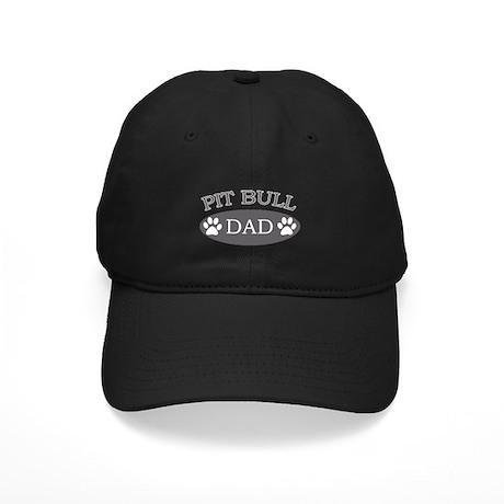 Pit Bull Dad Black Cap