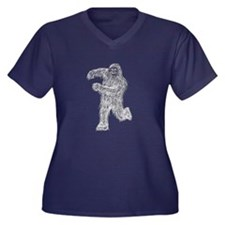 Dancin' Sasquatch Women's Plus Size V-Neck