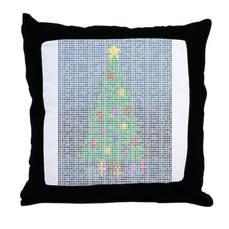Binary Christmas Carol - O Ta Throw Pillow
