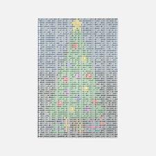 Binary Christmas Carol - O Ta Rectangle Magnet (10