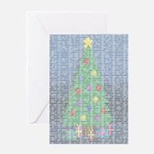 Binary Christmas Carol - O Ta Greeting Card