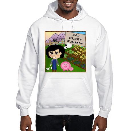 Eat, Sleep, Farm Hooded Sweatshirt