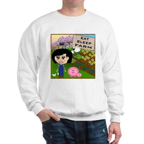 Eat, Sleep, Farm Sweatshirt