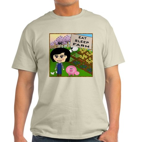 Eat, Sleep, Farm Light T-Shirt